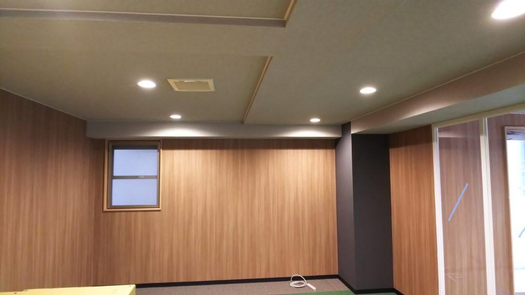 東京都港区 オフィス内装 ダウンライト設置工事