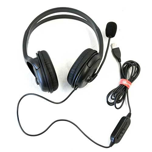 両耳USBヘッドセット